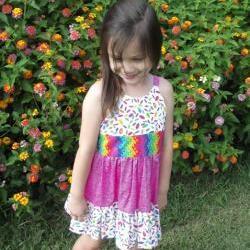 Girls ruffled sun dress size 3  spring/summer Boutique