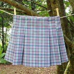 Girls Pleated Plaid skirt in a size 4, OOAK