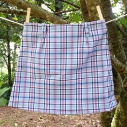 Girls Plaid Skirt, A-line, size 4, OOAK
